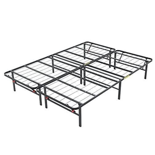 Classic Brands Hercules Black Heavy Duty Metal 14-Inch Platform Mattress Foundation Bed Frame – Twin