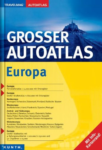 Großer Autoatlas Europa