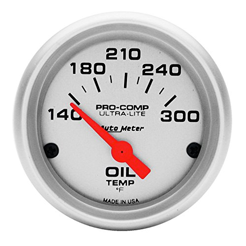 Auto Meter 4348 Ultra-Lite Electric Oil Temperature Gauge (Temperature Fluid Gauge)
