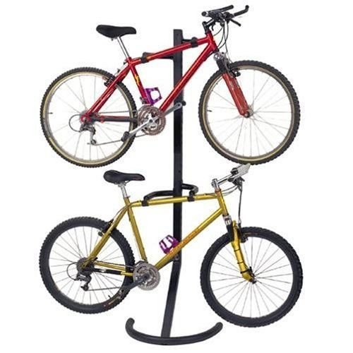 Generic g New, ng Bike Stand, e Shipp Two-Bike Gravity Stand, nding Bike Stand Freestanding