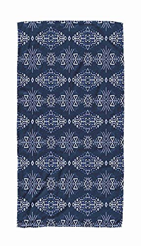 ROOLAYS Large Bath Towels, 30x60 Microfiber Beach Towel Quick Dry for TravelSwimming Baby Bath Towel of Pattern in Ethnic Style Creative Tribal Ornament Perfect Textile Design Wrapping Paper