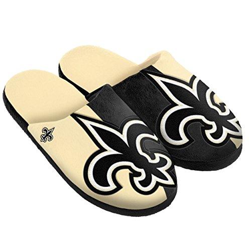 New Orleans Saints Split Color Slide Slipper Medium