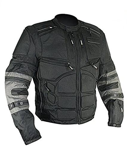 Amazon.com: Xelement CF5050 Mens Black/Grey Cordura Armored Jacket with Removable Sleeves - Black / 3X-Large: Automotive