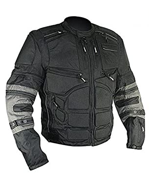 Xelement CF5050 Mens Black/Grey Cordura Armored Jacket with Removable Sleeves - Black / 3X