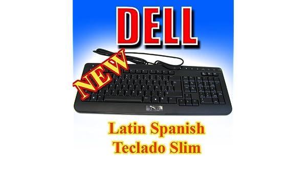 Amazon.com: NEW Dell Slim USB Multimedia Keyboard Teclado Latin Spanish Black T270c L20u: Computers & Accessories