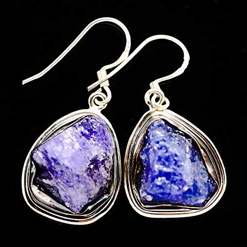 Ana Silver Co Rough Tanzanite 925 Sterling Silver Earrings 1 1/2