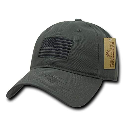 Rapid Dominance American Flag Embroidered Washed Cotton Baseball Cap - - Mall Rapids