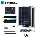 RENOGY® 200 Watt 12 Volt Polycrystalline Solar Complete Kit with Wanderer Charge Controller