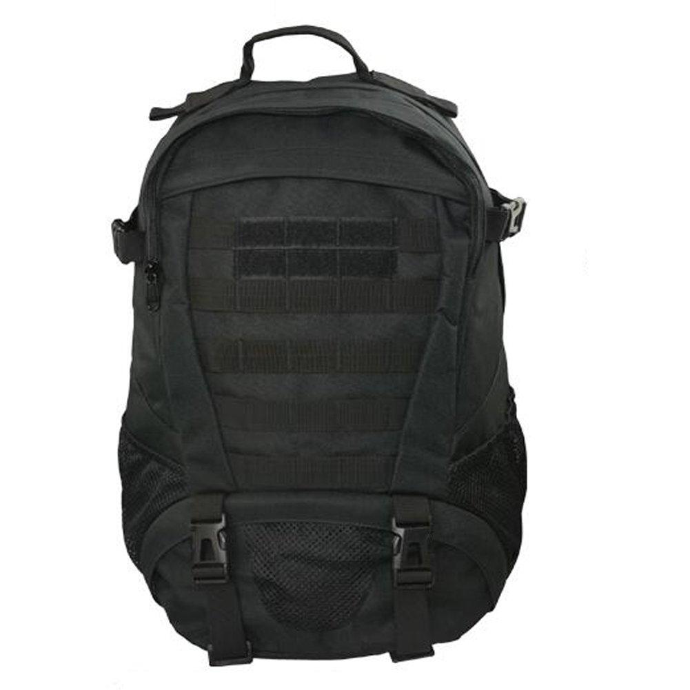 Camoバックパックミリタリースタイル – マルチ関数Combat MOLLEシステムバッグGreat品質 B072JLT99T ブラック ブラック
