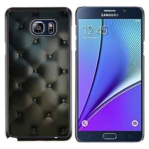 Caucho caso de Shell duro de la cubierta de accesorios de protección BY RAYDREAMMM - Samsung Galaxy Note 5 5th N9200 - Material de Diseño Textil Gris Interior Botones