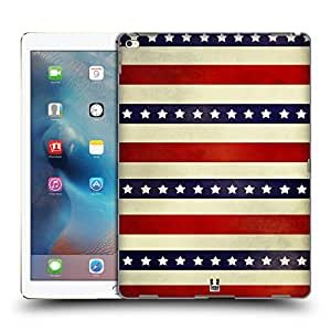 Head Case Designs 3 Red Stripes Americana Protective Snap-on Hard Back Case Cover for Apple iPad Air 2