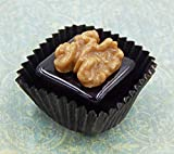 Walnut on a Glass Chocolate Handmade Sculpture Gift Home Décor (Lampwork) Made in USA