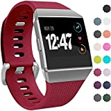 Wepro Bands Compatible with Fitbit Ionic Watch, Replacement Sport Strap for Fitbit Ionic Smartwatch, Buckle, Large, Small