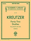 42 Studies: Transcribed for Viola (Schirmer's Library of Musical Classics, Volume 1737)