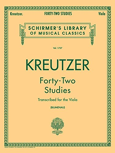 42 Studies: Transcribed for Viola (Schirmer's Library of Musical Classics, Volume 1737) ()