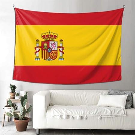 LONGYUU Tapices Bandera de Alto Detalle España Niños Tapiz Decoración de Dormitorio Arte de la Pared 90x60 Pulgadas (229x152cm) Arte de Colgar en la Pared Hogar para Sala de Estar Dormitorio: Amazon.es: