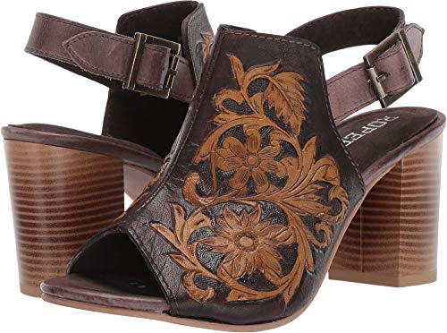 ROPER Women's Mika Brown Floral Tooled Leather 8.5 M US
