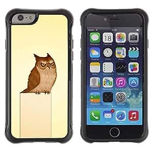 Paccase / Suave TPU GEL Caso Carcasa de Protección Funda para - Owl Grumpy Bird Art Drawing Fairytale - Apple Iphone 6