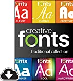 Software : Creative Fonts Traditional Collection [PC Download]