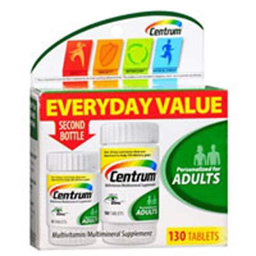 Centrum Adult Daily Multivitamins, 130 Count (Pack of 2)