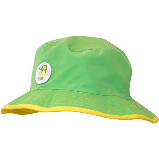 be4522d375dd0 Amazon.com  Floppy Tops Ultra Compact Reversible Sun and Rain Hat  (Green Yellow)  Clothing