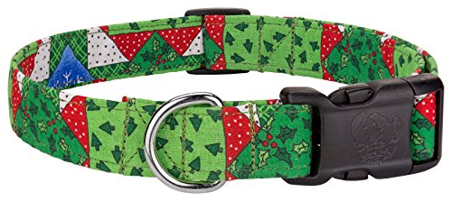 Country Brook Design Deluxe Christmas Patches Designer Dog Collar - Large