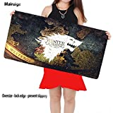 Stark Men Winter Is Coming Game of Dragon Map Non-Skid Rubber Pad Mouse Mat Desk Pad Keyboard Pad for CS Go LoL As Gift