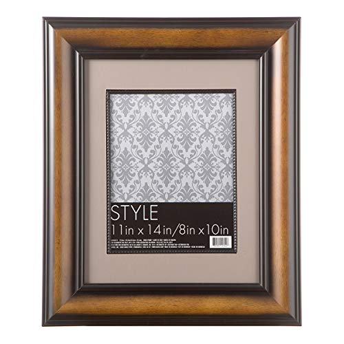 (Darice 11 X 14 Beaded Wood Picture Frame: Dark Walnut)