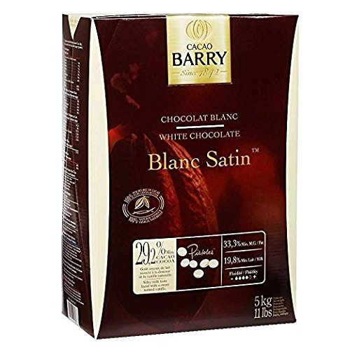 White Couverture Chocolate, Pistoles, Blanc Satin 29.2% - 11 Lbs