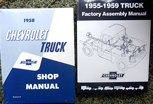 1958 CHEVY TRUCK, PICKUP FACTORY REPAIR SHOP And SERVICE MANUAL Plus FACTORY ASSEMBLY MANUAL SET Cameo, Conventional, Low Cab Forward, Forward Control, Tandem Axle, & School Bus