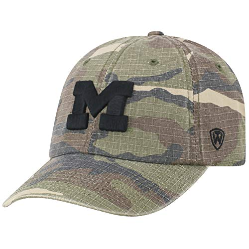(Top of the World Michigan Wolverines NCAA Heroes Adjustable Camo Hat)