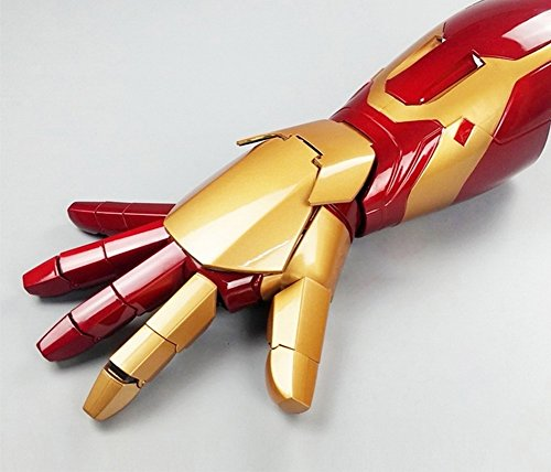 Gmasking 2017 Iron Man MK42 Wearable Arc FX Wrist Armor Gauntlet 1:1 Props (Iron Man Hands)