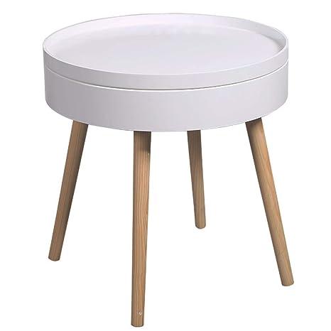 Amazon.com: Katylen-Side mesa auxiliar, de madera maciza ...
