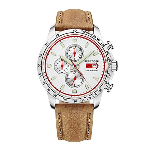 - LiBetyd RT Sport Watch for Men Chronograph Quartz Watch with Italian Calfskin Leather and Super Luminous Watch-RGA3029YWS