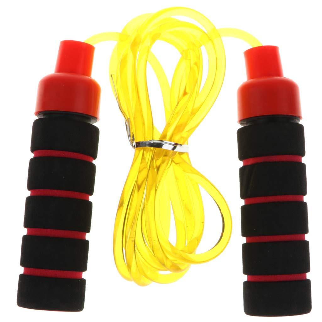 KESOTO 2.7m PVC Speed Jump Corde à Sauter avec Poignée en Mousse Sport De Plein Air Bon Jaune