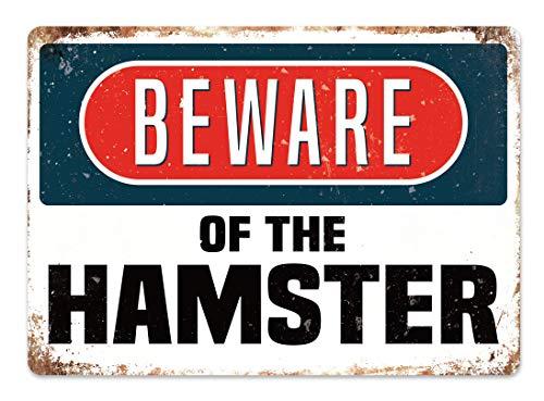 ハムスターに注意してください 金属板ブリキ看板注意サイン情報サイン金属安全サイン警告サイン表示パネル