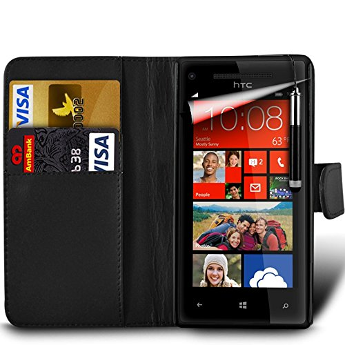 "Price comparison product image MobiBax Nokia 5 5.2"" Screen - Protective Magnetic Pu Leather Wallet Flip Skin Case Book Cover With Retractable Stylus Pen In Black"