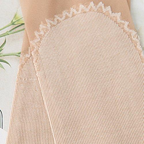 in calze 10 paia sezione Brown antiscivolo Calze calze gancio indossare sottile tubo cristallo e velluto invisibili nel antiscivolo calze primavera calze di cotone calze di l'estate anti a calze pFqXpg