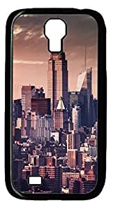 City Building Hard Cover Back Case For Samsung Galaxy S4,PC Black Case for Samsung Galaxy S4 i9500