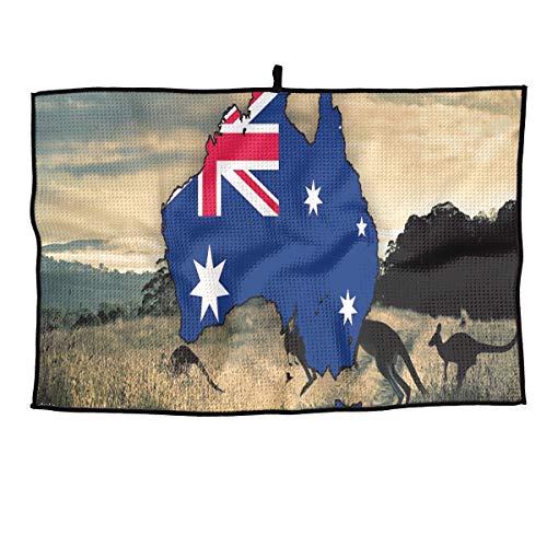 (LETI LISW Golf Towel Blank Map of Australia Travel Towel for Chill Ice Fitness Biking Hiking Pilates & More)
