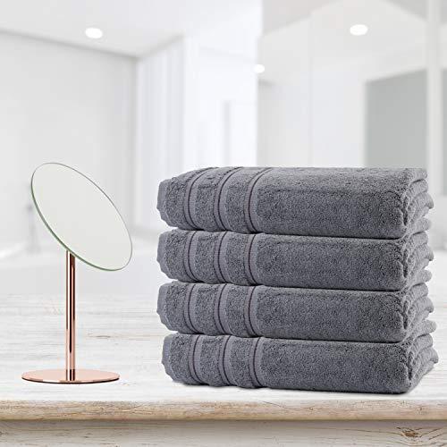 Amazon.com: Silken Textile | Premium Towel Set 100% Turkish Cotton | 4 Pieces Bath Sets Towel for Hotel Bathroom Bridal Registry Dorm Home Essentials ...