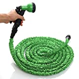 Ogima 50ft Latex Garden Expandable Hose/as Seen on Tv Hose with 8-pattern Sprayer-green