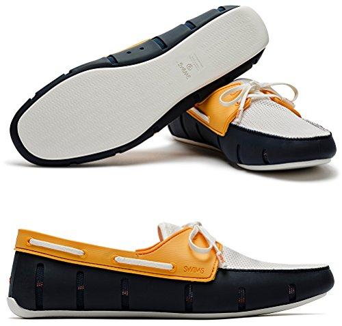 SWIMS Mens Sport Loafers Navy/Mandarin VJUAlnuK