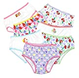 Handcraft Little Girls' Disney Princess Ariel 7 Pack Panty (8(Assorted), White/multi)