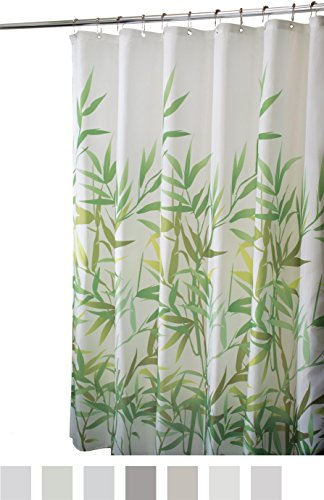 "InterDesign Anzu Fabric Shower Curtain - Stall, 54"" Inches x 78"" Inches, Green"