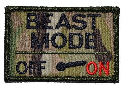 Beast-Mode-Activated-2x3-Military-Patch-Morale-Patch-Multiple-Colors