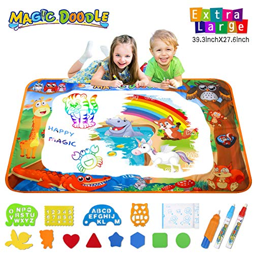 Hommate Water Doodle Mat Animal World Theme Toddler Birthday Toys for 2 3 4 Year Old Girls Boys