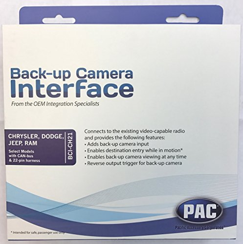 PAC BCI-CH21 Backup Camera/Navigation Unlock Interface (for Select Chrysler/Dodge/Jeep/RAM Vehicles) - Backup Camera Interface