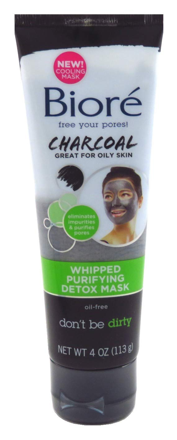 Biore Charcoal Whipped Purify Detox Mask 4 Ounce (118ml) (2 Pack)