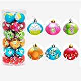 Hot Sale! Clearance!Todaies-24PC Christmas Tree Xmas Balls Decorations Baubles Party Wedding Ornament 6cm (6cm, Multicolor)